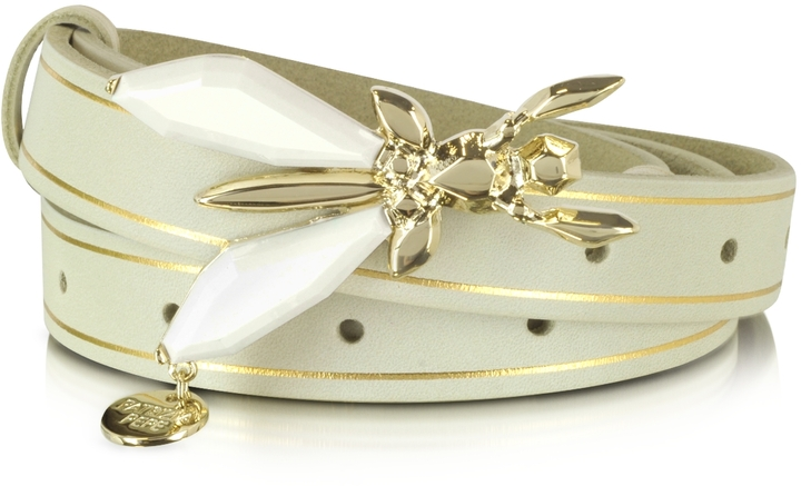 Patrizia Pepe Precious Fly - Jeweled Buckle Suede Belt