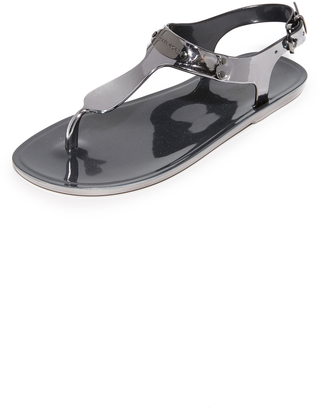 MICHAEL Michael Kors MK Plate Jelly Sandals $59 thestylecure.com