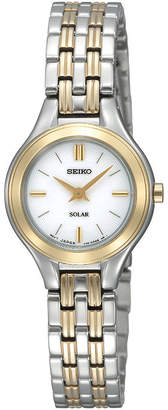 Seiko Womens Two-Tone Stainless Steel Solar Bracelet Watch SUP210