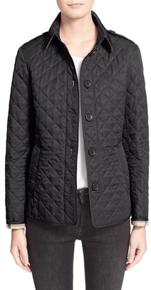 Women's Burberry Brit 'Ashurst' Quilted Jacket $595 thestylecure.com