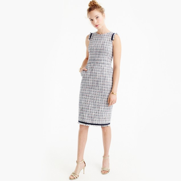 J.Crew Petite sheath dress in lightweight tweed