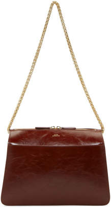 A.P.C. Burgundy Ella Bag