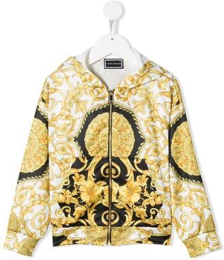 Versace baroque style zip hoodie