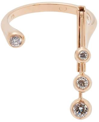 Rosegold MARIE MAS Dancing diamond & 18kt rose-gold ring