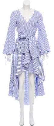 Caroline Constas Stripped Maxi Dress