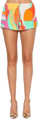Emilio Pucci Printed Cotton Jersey Shorts