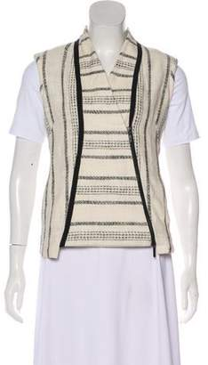 Zero Maria Cornejo Patterned Surplice Neck Vest