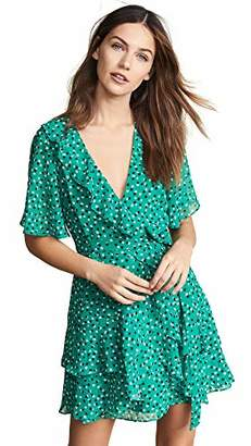 C/Meo Collective Women's Loyalties Flutter Sleeve Wrap Tiered Mini Dress