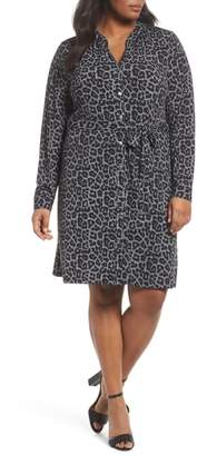 MICHAEL Michael Kors Leopard Plaid Shirtdress