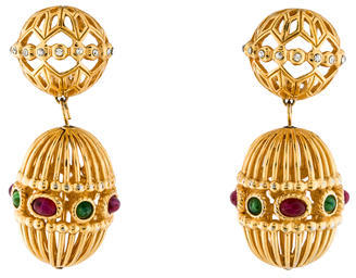 Christian Dior Christian Dior Cage Drop Earrings