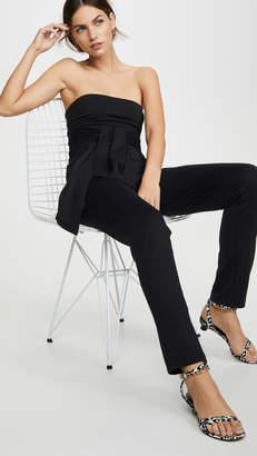Susana Monaco Strapless Tie Waist Jumpsuit