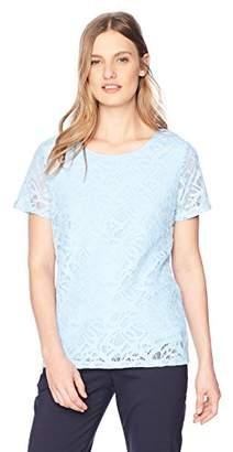 Calvin Klein Women's Short Sleeve Lace Tee