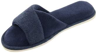 81c38fbfd HomeIdeas Women s Open Toe Terrycloth Slide House Slippers with Comfy  Velvet Lining