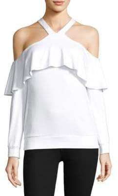 Bailey 44 Ruffle Cold-Shoulder Top