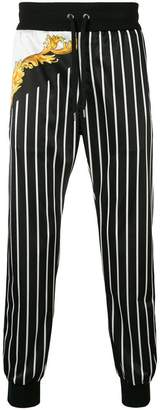 Versace striped printed track trousers