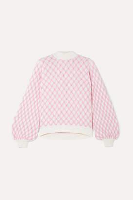Stine Goya Carlo Cable Knit Wool-blend Sweater - Pink