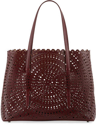 Alaia Small Vienne Laser-Cut Leather Tote Bag