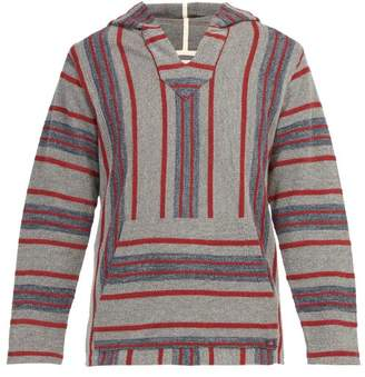 Faherty Baja Striped Cotton Hooded Sweater - Mens - Blue Multi