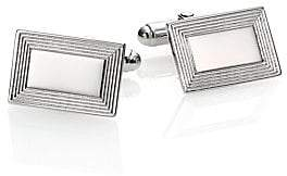 David Donahue Men's Sterling Silver Rectangle Cuff Links