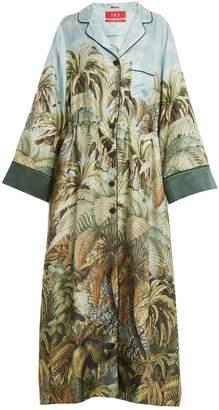 DAY Birger et Mikkelsen F.R.S - FOR RESTLESS SLEEPERS Oneiroi palm-tree print silk-twill robe