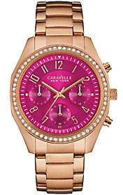 Caravelle New York Women's Watch w/ Berry Chron