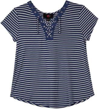 69dd5a8902e7e Amy Byer Iz Girls 7-16   Plus Size IZ Short Sleeve Lace-Up