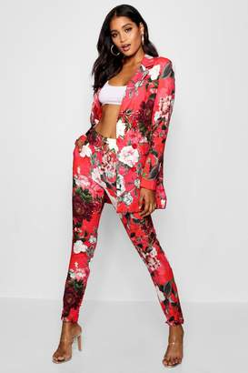 boohoo Premium Floral Tapered Trouser