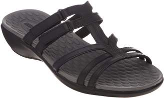 Clarks Leather Adjustable Slide Sandals - Sonar Pilot
