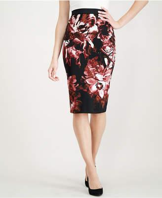 Alfani Printed Scuba Skirt, Created for Macy's