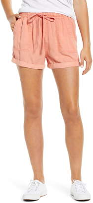Caslon Drawstring Waist Chambray Shorts