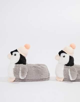 Original Penguin Loungeable Penguin With Bobble Hat Slipper