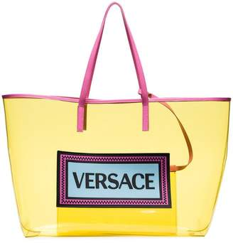4dba55ab572f Versace Yellow Logo PVC Tote Bag