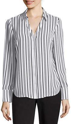 WORTHINGTON Worthington Long Sleeve Soft Blouse - Tall