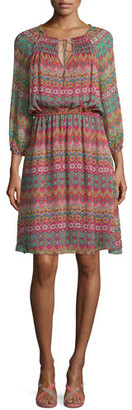 Diane von Furstenberg Parry Printed Silk Blouson Dress, Coromandel $448 thestylecure.com