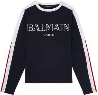 Balmain Colour Block Logo T-Shirt