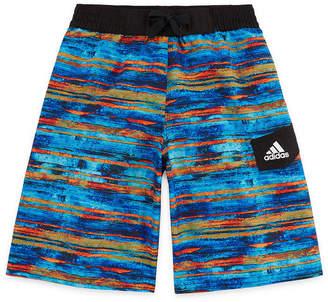 adidas Water Stripe Swim Trunks-Boys 8-20