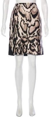 Diane von Furstenberg Wool Mea Mikado Pencil Skirt