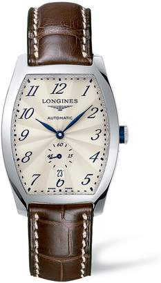 Longines Evidenza Automatic Leather Strap Watch, 33mm x 38.8mm