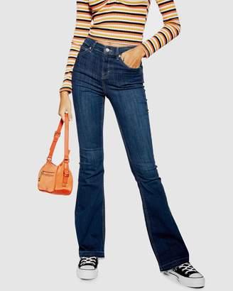 Topshop Jamie Flare Hem Jeans