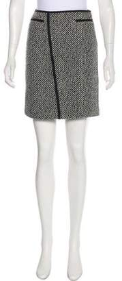 Strenesse Virgin Wool Patterned Skirt