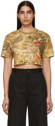 Heron Preston Brown Camouflage Crop T-Shirt