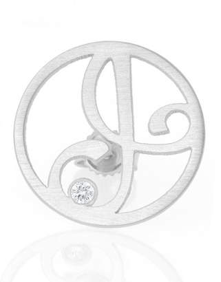 K Kane Left Singular Mini One-Initial Diamond Stud Earring