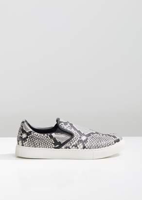Junya Watanabe Steer Python Print Slip On Sneakers