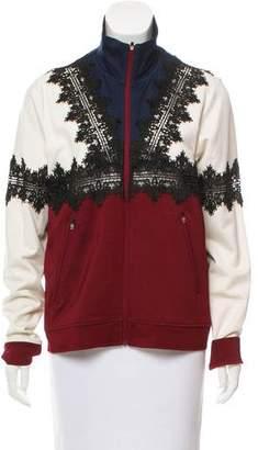 Ganni Colorblock Zip-Up Jacket