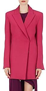 WOMEN'S DOUBLE-BREASTED LONG JACKET - PINK SIZE 42 IT