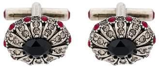 Alexander McQueen glass stones embellished cufflinks