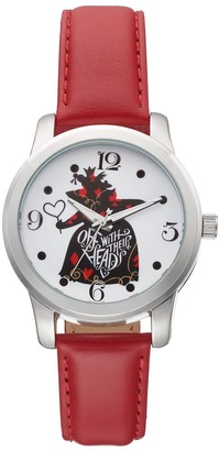 "Disney Disney's Alice in Wonderland ""Off With Their Heads"" Women's Leather Watch"