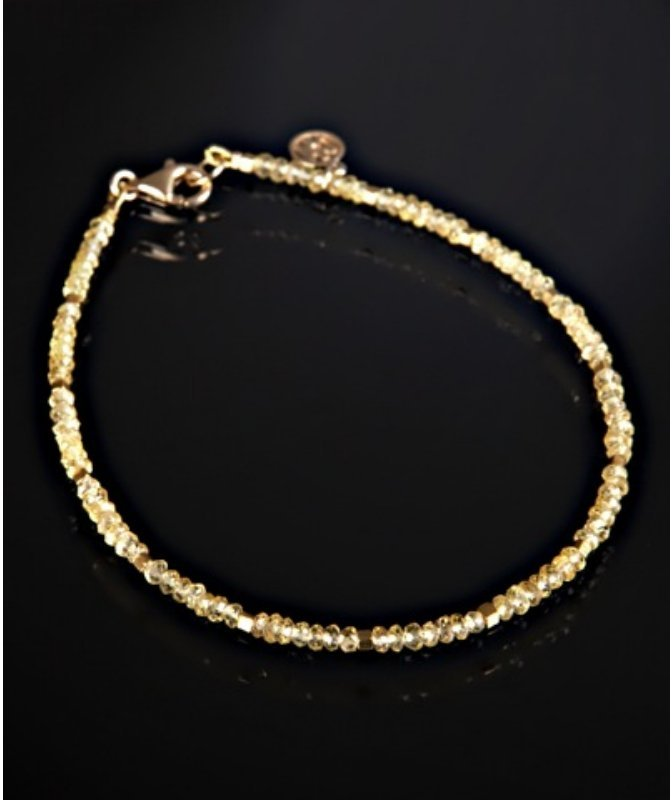 David Harris 18k gold and yellow sapphire beaded 'Niagara' bracelet