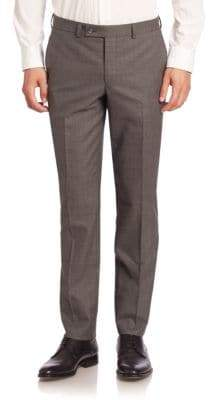 Saks Fifth Avenue Modern Slim-Fit Wool Trousers