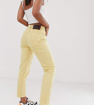 Reclaimed Vintage The '89 slim tapered leg jean in antique yellow wash